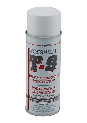 SPRAY BOESHIELD BICYCLE T-9 RUST PROTECTION WATERPROOF CHAIN LUBE 12oz T90012