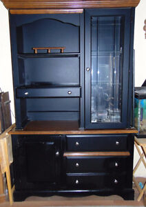 Lighted Buffet and Hutch (SOLD)