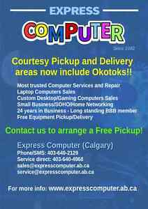 Express Computer - Free Pick Up / Delivery now includes Okotoks!