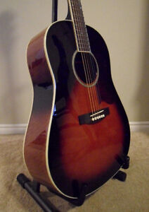 Saga Solid Top Acoustic Guitar with Hard Shell Case London Ontario image 1