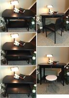 Beautiful Beauty! Refinished 1-Drawer Desk & Chair