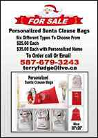 Personalized Santa Clause Bags With Free Reindeer