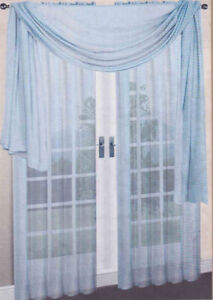 Slate Blue 1 Pcs Soft Sheer Voile Window Panel Solid Scarf Valance Curtains Ebay