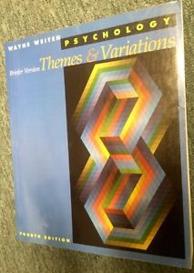 Psychology Themes and Variations 4th Edition