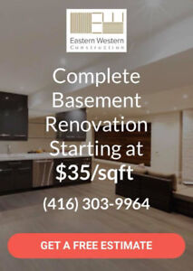 FINISHING YOUR  BASEMENT  TODAY FROM 35$