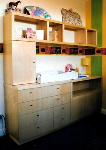 custom built in changing table