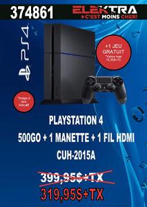 374861..CONSOLE PS4...( 500 GO ) ...+ JEU GRATUIT ..$319.95