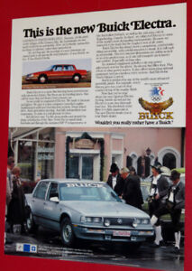 COOL 1985 BUICK ELECTRA ROAD TESTED IN GERMANY AD - VINTAGE 80S