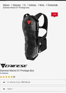 Protection dorsale Dainese Manis D1
