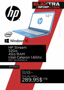 376525.... ORDINATEUR PORTABLE HP.....$289.95