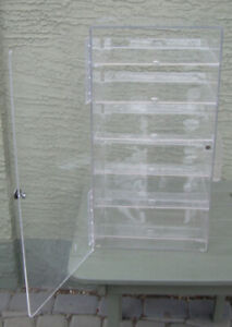 Display cabinet, perspex, for hobby items. Near Chinook