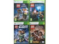 Xbox 360 lego games star wars / pirates / jurassic park / harry potter