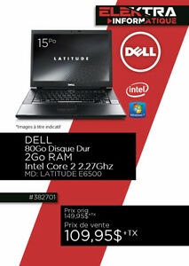 382701...ORDINATEUR PORTABLE DELL...( INTEL i3 ) ...$109.95