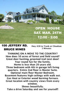 OPEN HOUSE MAR. 24TH SAT....NOON-2:00