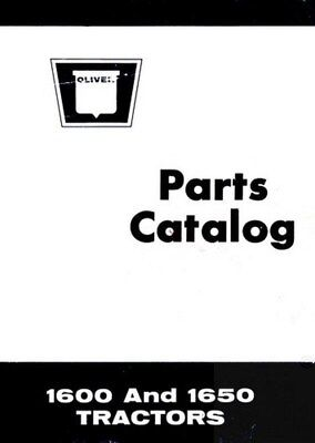 White Oliver Minneapolis Moline 1600 1650 Tractor Parts Catalog Book Manual