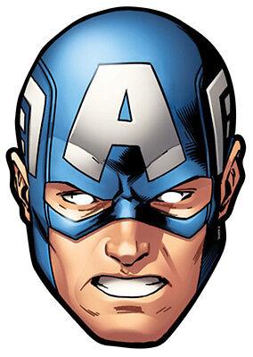 erica Marvel The Avengers Karte Party Gesichtsmaske Maske S (Captain America Offizielle Kostüm)