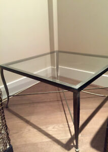 Custom made glass tables