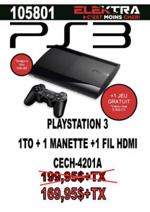 105801....CONSOLE PLAYSTATION 3....( 1 T ) ....$169.95