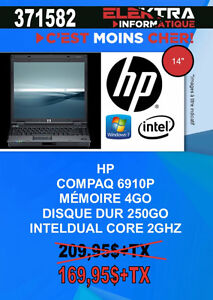 371582...ORDINATEUR PORTABLE HP....$169.95