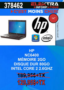 378462....ORDINATEUR PORTABLE HP....$129.95