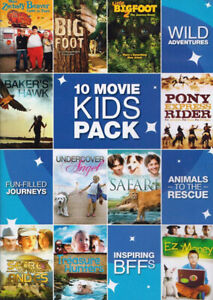 10 Kids Movies Pack-2 dvd set/10 Movies-Very good condition