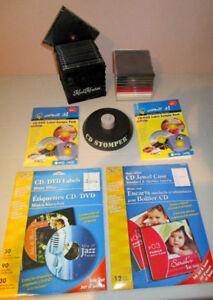 Étiquettes et boîtiers pour  CD et DVD