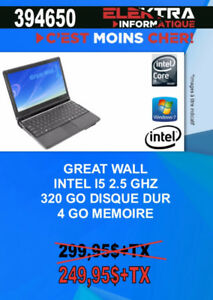 394650......ORDINATEUR PORTABLE GREAT WALL ...( i5 0 ...$249.95
