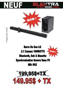 NEUF .....BARRE DE SON LG ( BLUETOOTH ) ....$149.95