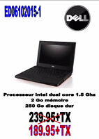 ED06102015-1..... ORDINATEUR PORTABLE DELL ...$189.95