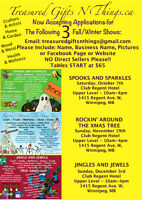 CRAFTS / TRADES /VENDORS-WANTED-FALL/WINTER-SALES-SHOWS-EVENTS