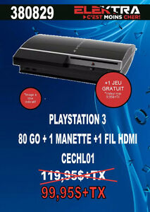 380829.....CONSOLE PLAYSTATION 3....( 80 GO ) .....$99.95
