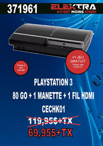 371961...CONSOLE PLAYSTATION 3....( 80 GO ) ....$69.95