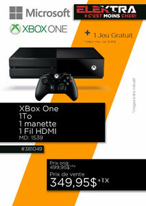 381049...CONSOLE XBOX ONE ....( 1 TO ) ....$349.95