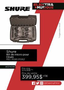 374018....KIT DE MICRO POUR DRUM ( SHURE ) ....$399.95