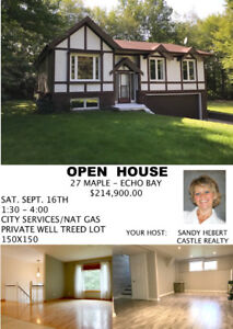 FIRST OPEN HOUSE SAT. JUNE 16TH 1:30 - 4:00