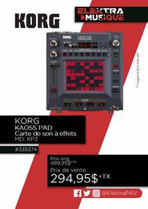 335374...PROCESSEUR KORG KAOSS PAD $294.95
