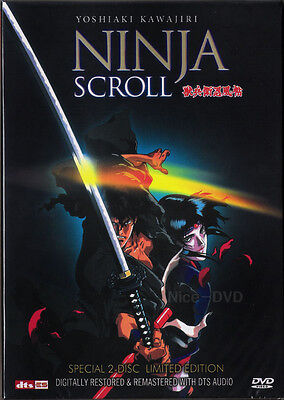 NINJA SCROLL: The Movie (1993) 2-DVD Disc SET!! (New) Limited Edition.