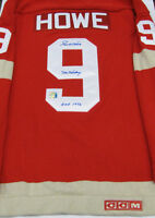 Gordie Howe Mr. Hockey Signed Wool Detroit Red Wings Jersey