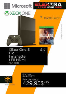 CONSOLE XBOX ONE S ( 4 K ) 1T .....$429.95