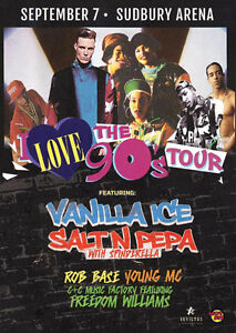 2 VIP Tickets to the 90's Tour