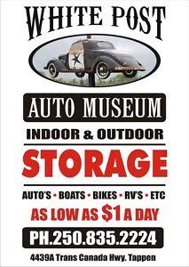 Indoor Vehicle Storage