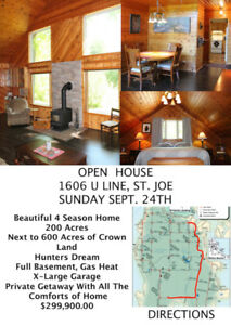 OPEN HOUSE SUNDAY SEPT. 24TH 2:00 - 3:30