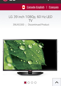 Lg HD 1080p TV 39' inches