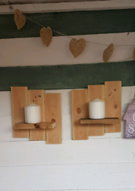 A pair off bespoke reclaimed wood small shelves