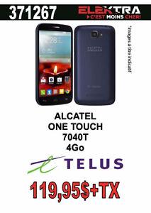 371267..TÉLÉPHONE CELLULAIRE ALCATEL ( 4 GO ) ONE TOUCH ..$119.9