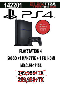 142201...CONSOLE PLAYSTATION 4...( 500 go ) ...$299.95