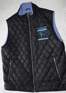 2006 World Jr. Figure Skating vest - Black & Periwinkle blue Kitchener / Waterloo Kitchener Area image 1