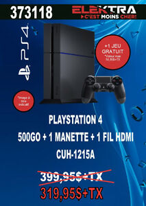 373118...CONSOLE DE JEU PS4..( 500 GO ) ...$319.95