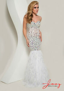 Beautiful Jasz Couture White Embellished Gown Edmonton Edmonton Area image 1