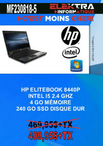 MF230818-5...ORDINATEUR PORTABLE HP ELITEBOOK $409.95